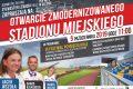 Zaproszenie na uroczyste otwarcie Stadionu Miejskiego w Oleśnie