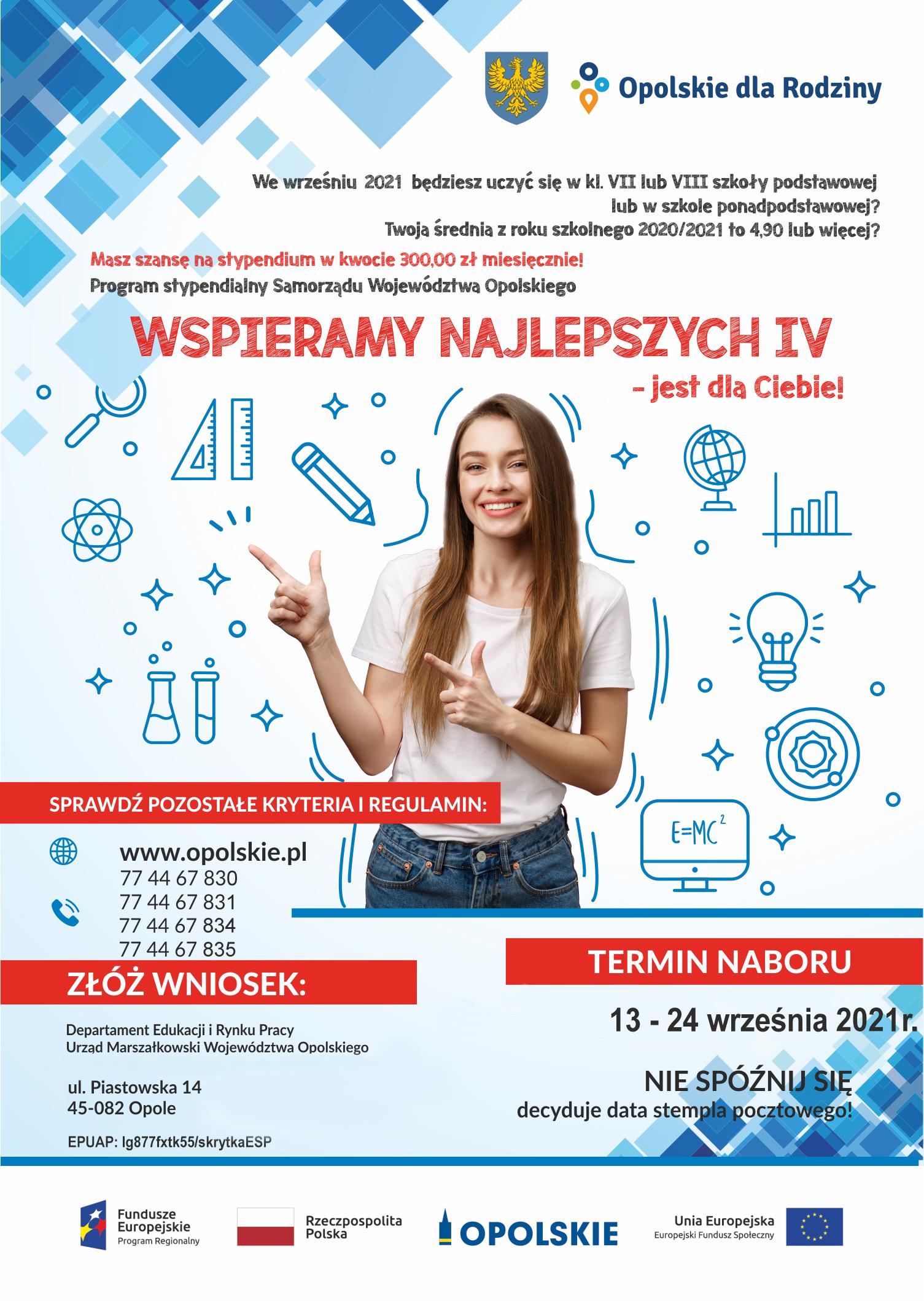 Wspieramy najlepszych – program stypendialny Samorządu Województwa Opolskiego